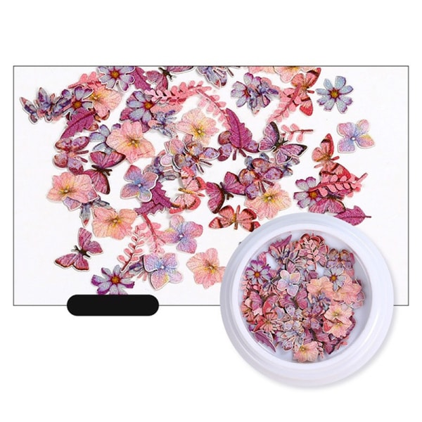 Mixed Dried Flowers Nail Art DIY Bottle Decoration Preserved Fl N1