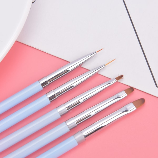 nagelborstverktyg metallstång gradient ljusterapi gel färgfärg