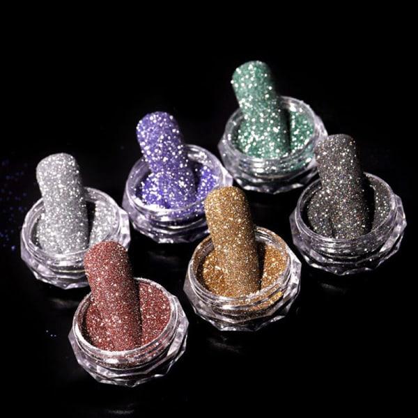 Nail Glitter Shining Sandy Dipping Pigment Powder DIY Nail Art