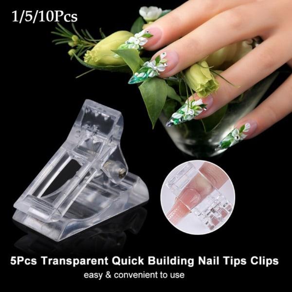 Nail Tips Clip Transparent Finger Building Gel Extension Nails