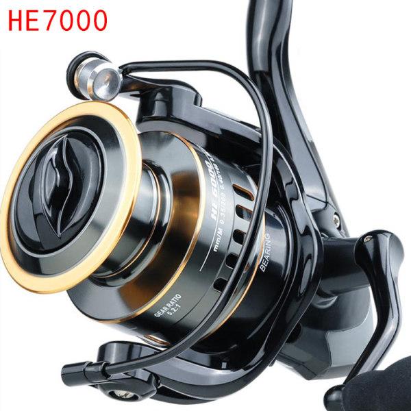 Ny 5.2: 1 höghastighetsmetall spole spinning fiskehjul HE1000-7