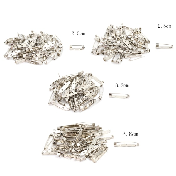 New 50pcs/Bag Safety Brooch Catch Bar Locking Pin Clasp Fastene silver 2.5cm