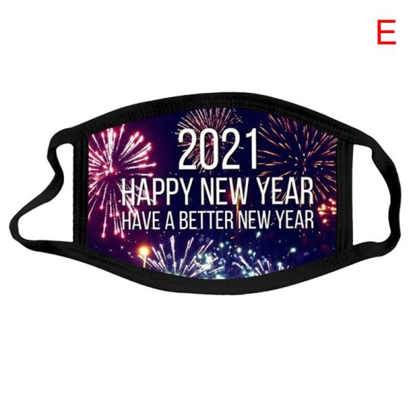 New Fashion 2021 Christmas New Year Mask Cotton Washable Men Wo