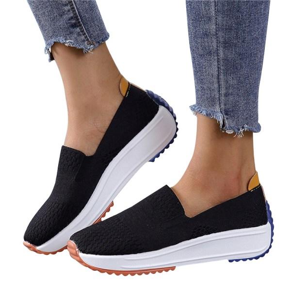 Nytt mode 2021 Högkvalitativa sneakers Slip On Flats Skor Loa