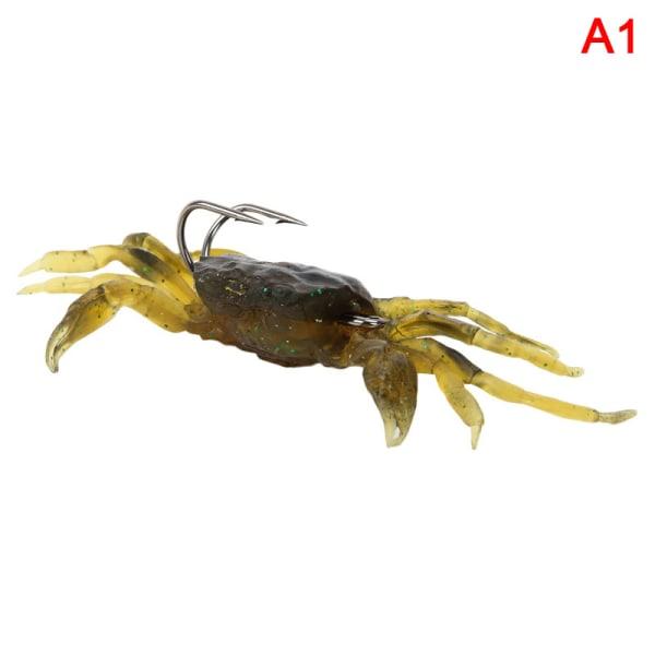 Ny silikon Road Bait 3D Simulation Crab Bait With Hook Sea Fi