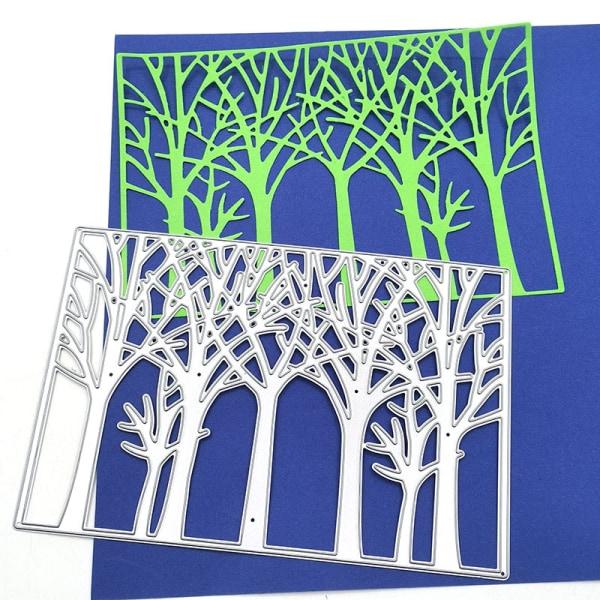 trevligt träd skär skär bakgrund metall skär skär stenciler fo
