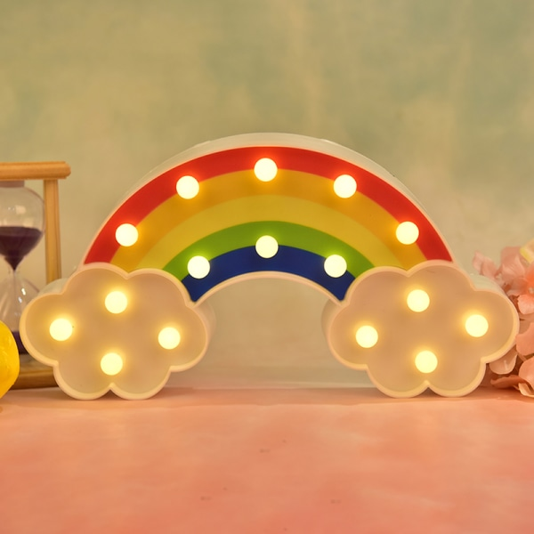Night Light Rainbow vägglampor Dekor Party dekorativ LED Night