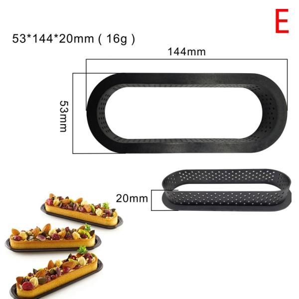 Non-stick Tårform Tarte Ring Plast Skärringar Mousse Ci