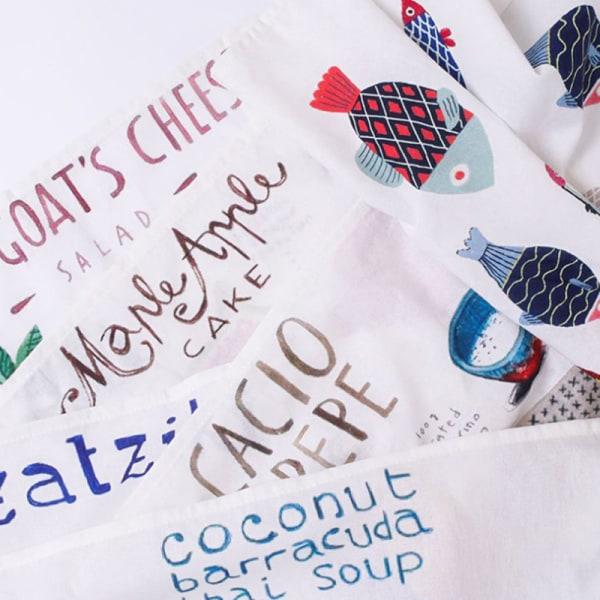 Nordic cotton linen napkin tablecloth tea napkin mat fruit anim A7