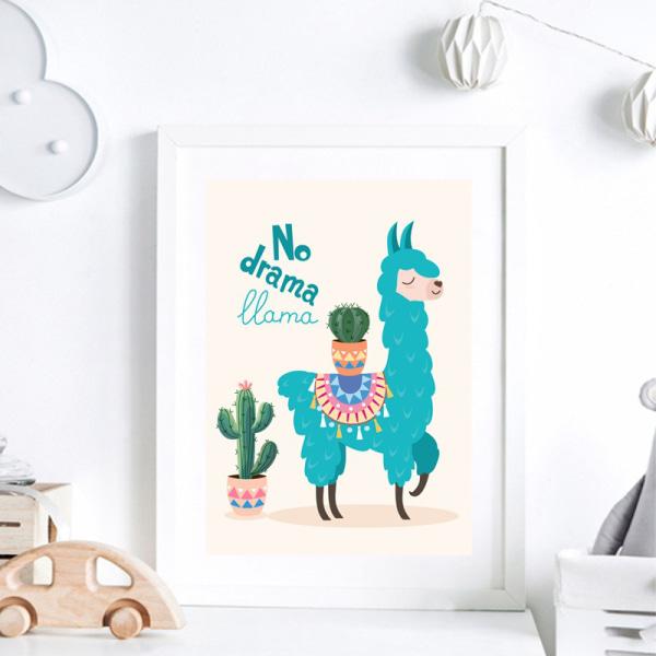 nordiska affischer och tryck kamel och kaktus väggduk målning