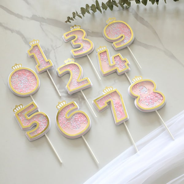 Number Cake Toppers Baby Shower Birthday Decoration Birthday Pa I
