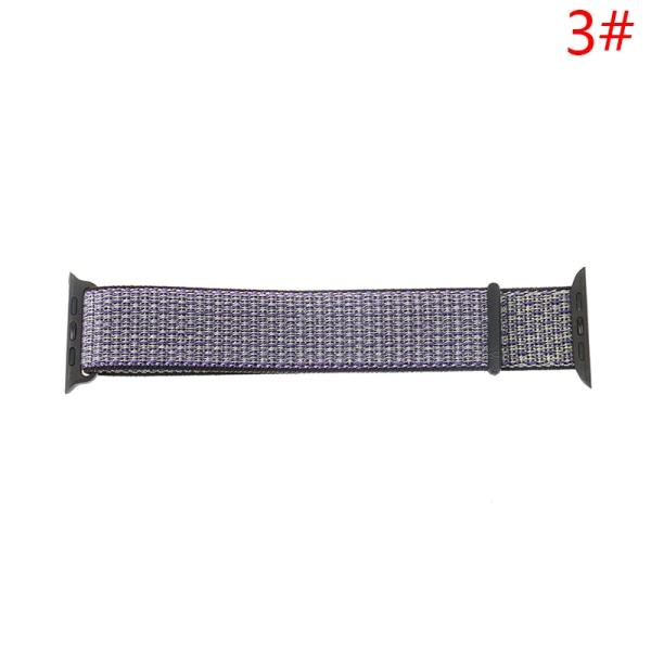 nylon mjukt andningsrem för smart klockband nylon loop spor
