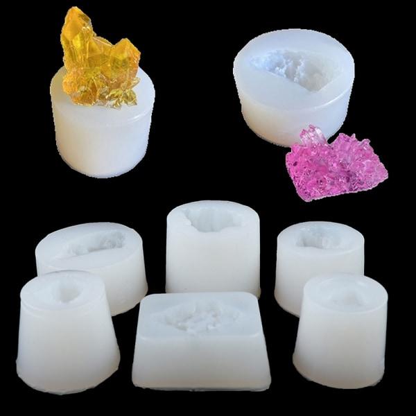 Original sten kristall epoxi silikon harts mögel DIY smycken penna