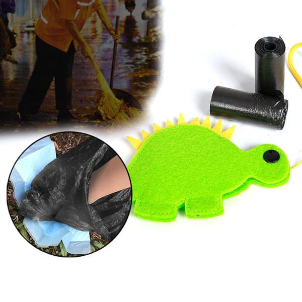 husdjur utomhus poop väska hållare söt djur form hund avfallspåsar