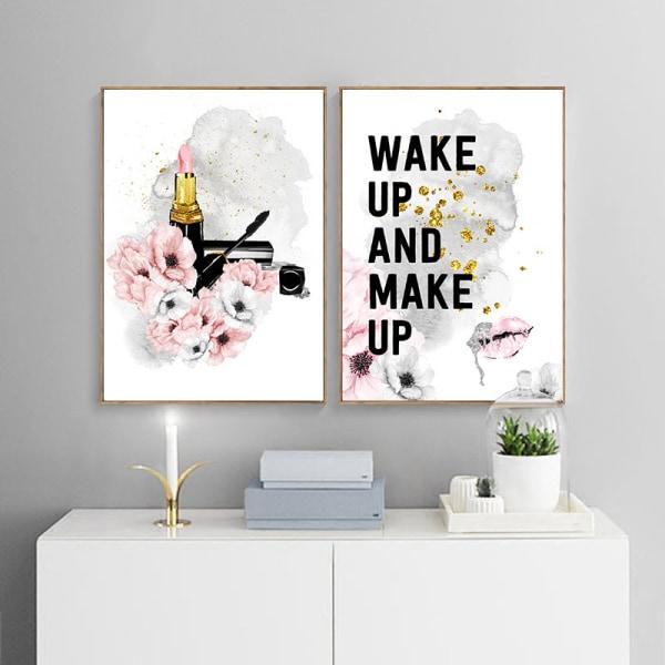 rosa blomma parfym mode dam högklackade affischer canvas a