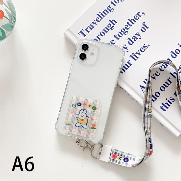 bärbar modetecknad lapp med snodd för mobilväska