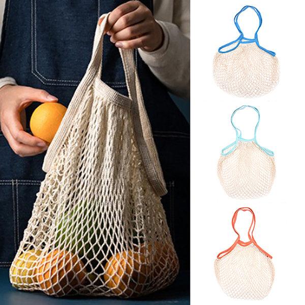 Bärbara återanvändbara livsmedelspåsar Fruktgrönsaksväska Handväska Lång