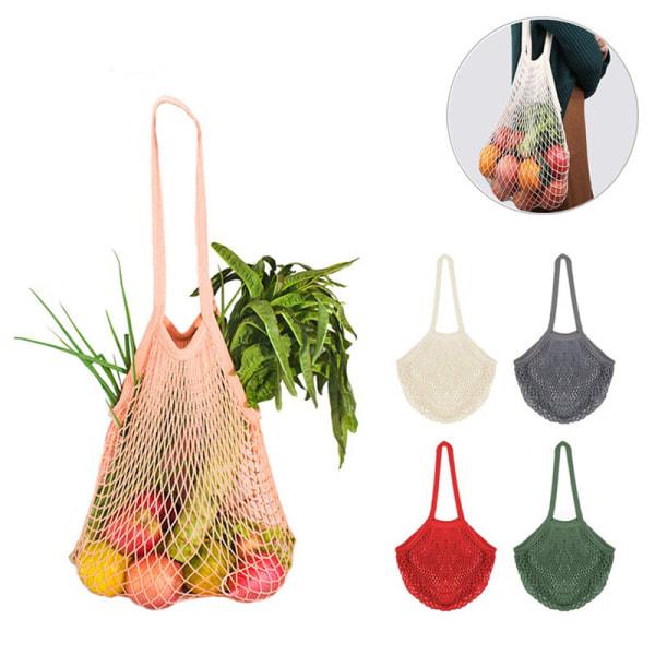 Bärbar återanvändbar shoppingkasse för frukt Fruktgrönsakpåse Hand