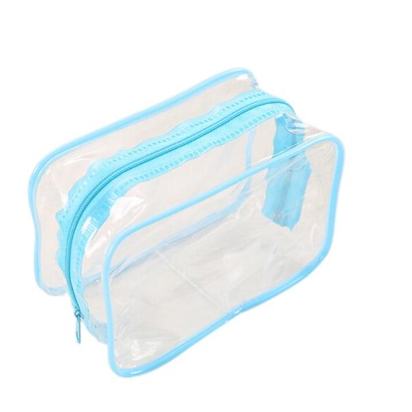 PVC klar plastpåse resebad toalettartiklar blixtlås kosmetiska