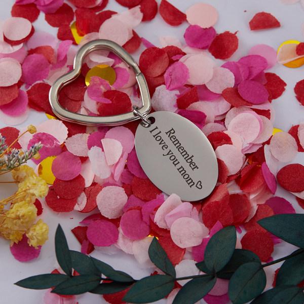 Kom ihåg att jag älskar dig mamma Pappa Nyckelring Dotter Son till mors / f