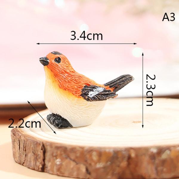 harts hem prydnad söta små fåglar djur modell statyett trädgård