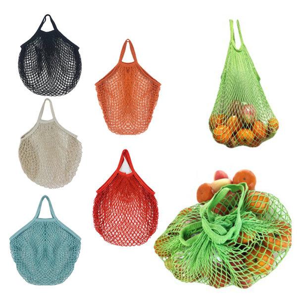 Återanvändbara livsmedelspåsar Fruktgrönsaksväska Handväska Kort handtag S
