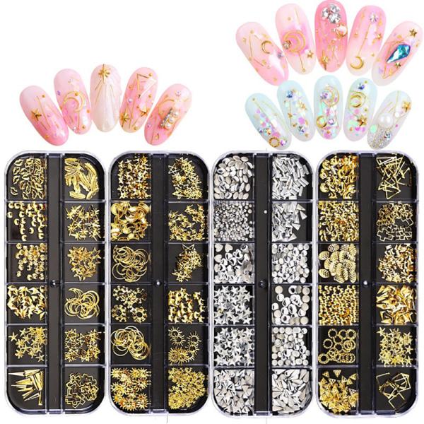 nitande nagel nagel prydnad blandad kristall diamant nagel rhineston