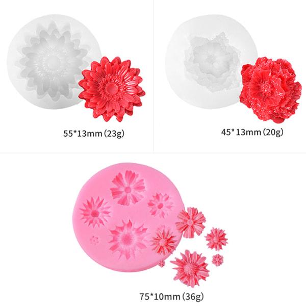 rosblomma silikonformar fondant kaka dekorationsverktyg blomma s