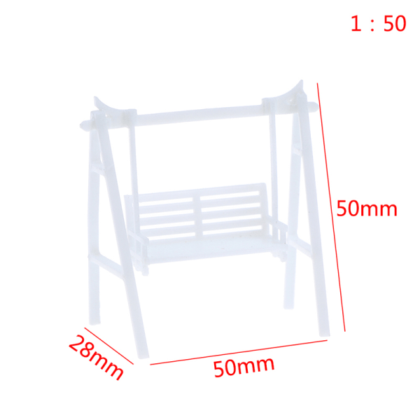 Sand Table Material Model Swing Rocking Chair DIY Handmade Buil White 1:50
