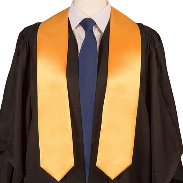 Satin Graduation Honor Stole University Bachelor Sash Shawl Gown
