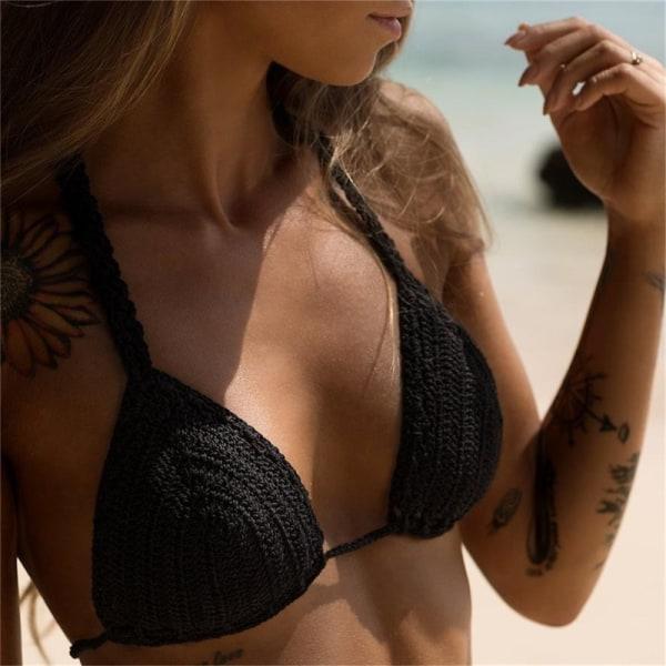 sexiga bikini topp virkade remsor bandage badkläder beachwear kvinnor