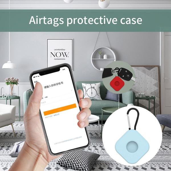 Silikonskydd mot förlorat spårskydd för AirTag-skydd