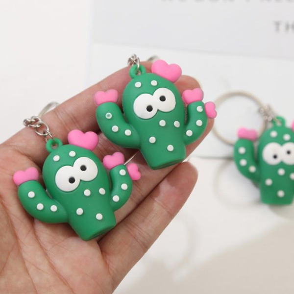 Simulation Cactus Key Chain Key Ring Car Bag Hangbag Plant Keych