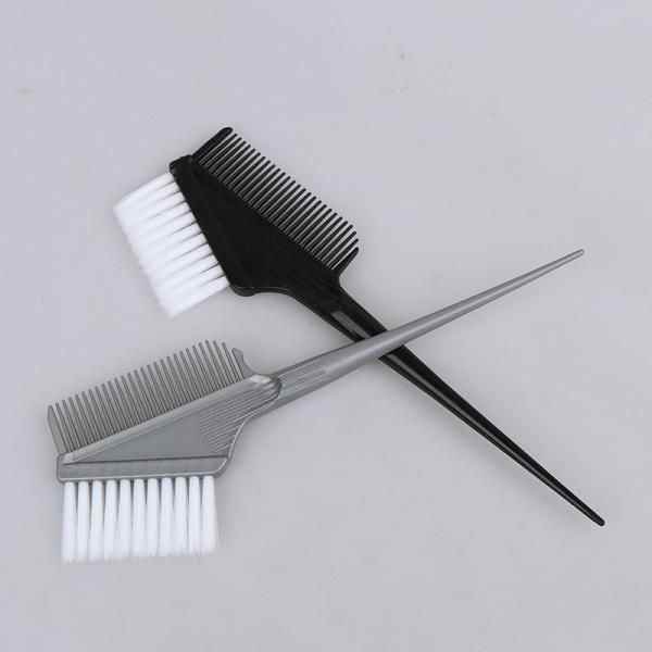 Liten hårkam, hårfärgningsverktyg, slipad vit hårfärgskam