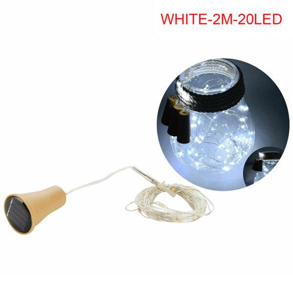 Solenergi Vinflasklampor LED-strängar Koppartråd Hem Pa