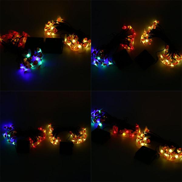 soldriven honungsbi ledad sträng fe ljus ljus utomhus trädgård pa Warm Light
