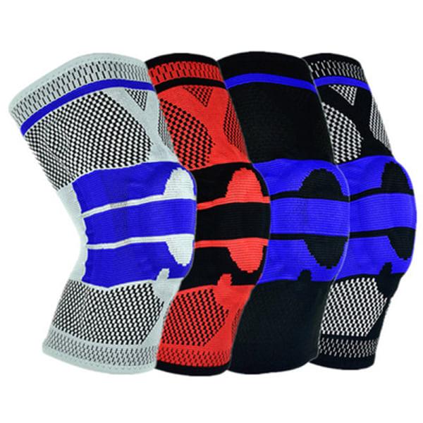 Sports Kneepad Men Pressurized Elastic Knee Pads Support Fitnes Blue L