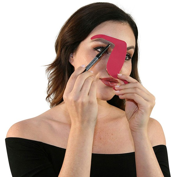 Stencil for Makeup Brushes Set Eyebrow Pencil Tint Shaper Conto Black