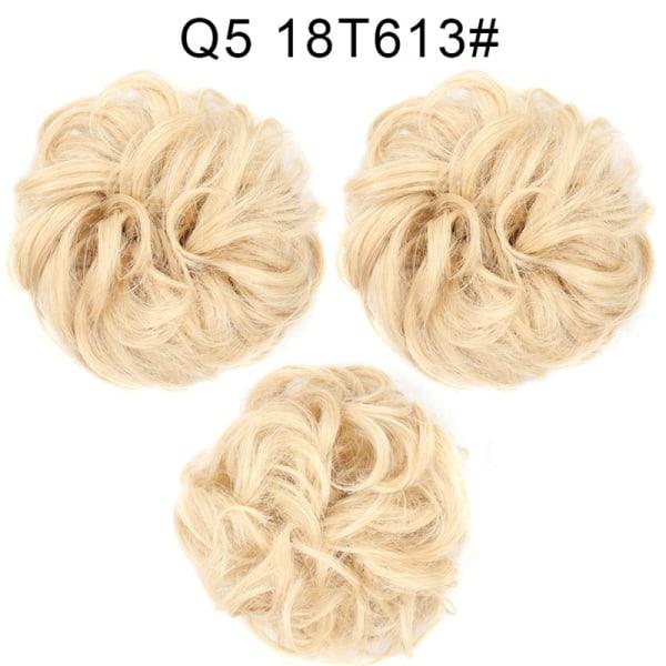 Syntetiska bullextensions Curly Messy Bun Hair Scrunchies Weddin