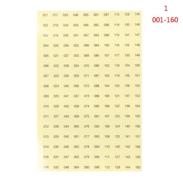 Transparent nummeretikett Vattentät klistermärke Rund nagellack C