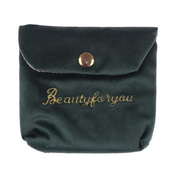 Velvet Organizer Lipstick Travel Cosmetic Cion Box Pouch Beauty Green