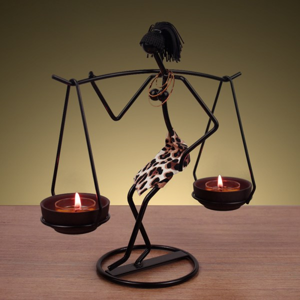 Vintage Candle Holders Home Decoration Metal People Model  Wedd B
