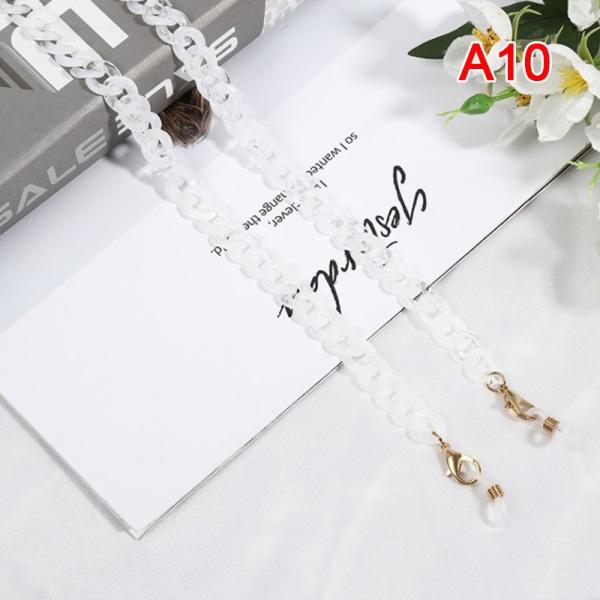 Kvinnors nyckelband solglasögonkedja akryl läsglasögon kedjor H