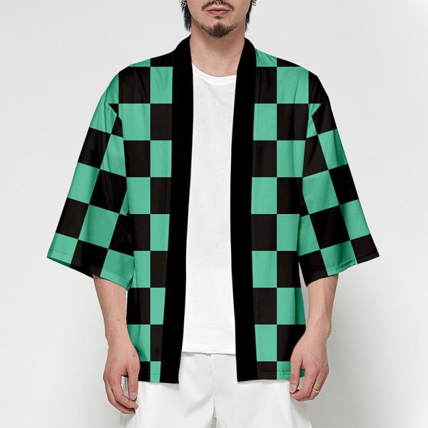 Kvinnor / män sommar Streetwear Demon Slayer Kimetsu Printing Haori