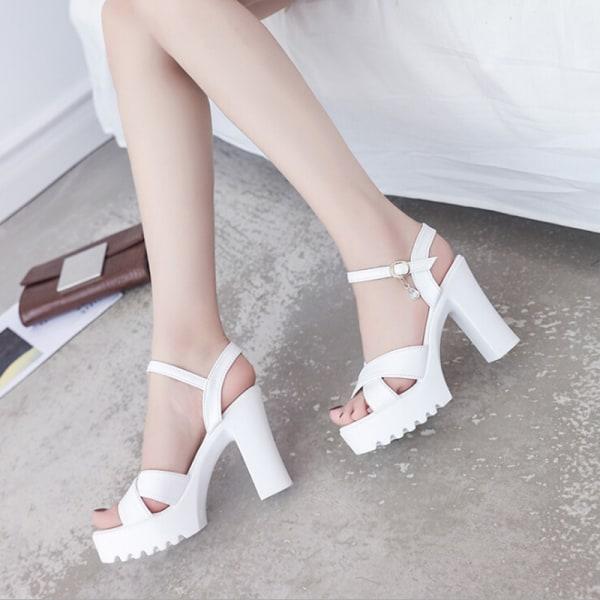 Kvinnor öppen tå högklackade skor spetsiga högklackade skor