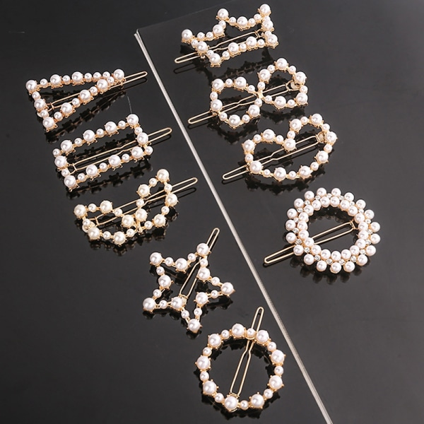 Women Pearls Hair Clip Ornaments Barrettes Hair Accessories Hai 12