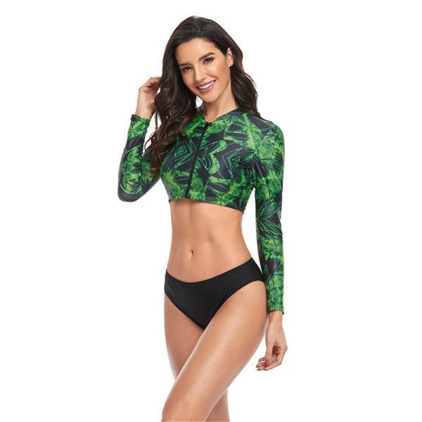 2-delad sportdykning för bikini stativ krage långärmad pri