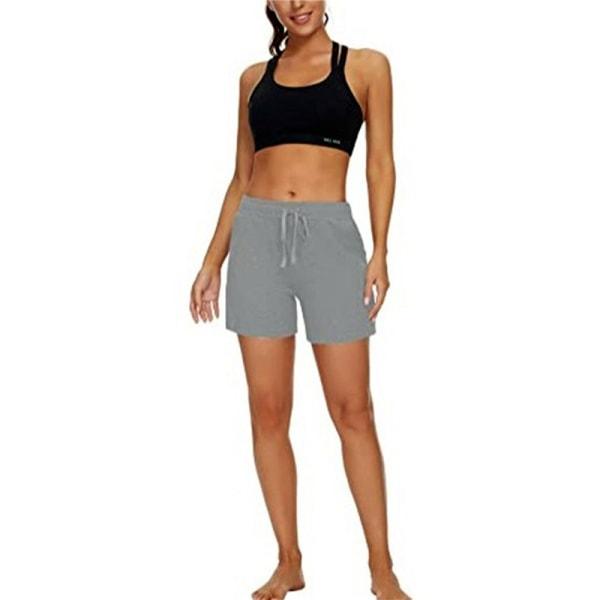 Kvinnors elastiska shorts för avslappnad yoga sportshorts