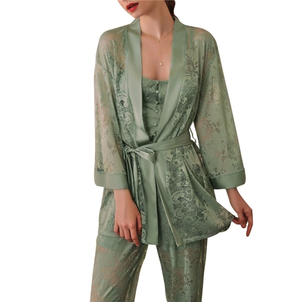 Kvinnors spetspyjamas 2-delad pyjamas