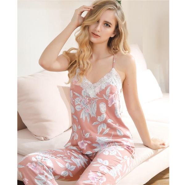 Kvinnors pyjamas tvådelad sexig pyjamas i byxor
